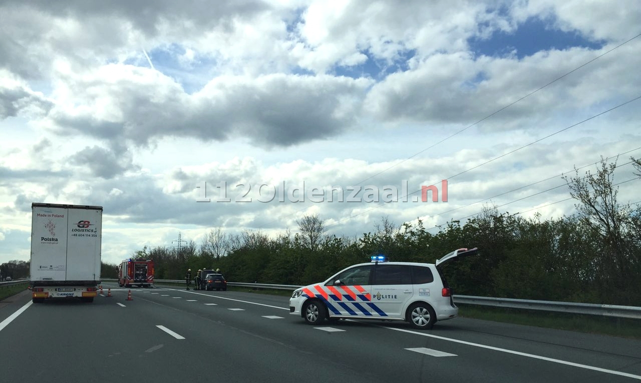 Foto 3: Autobrand A1 links Oldenzaal
