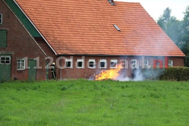 Video: Brandweer rukt uit voor brandgerucht Hondeborgweg Oldenzaal