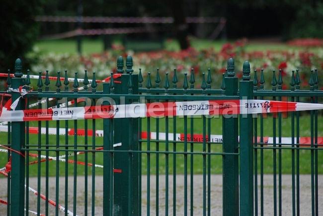 Foto 8: Onderzoek in Volkspark Enschede nog in volle gang