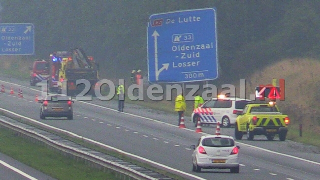 UPDATE (foto): Aanrijding letsel op A1 Oldenzaal