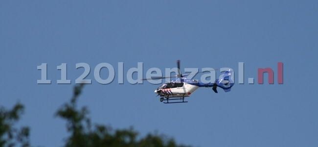 Verdachte situatie in Enschede, politiehelikopter ingezet