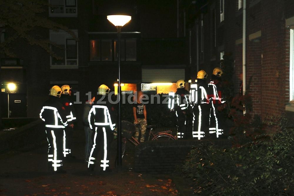 Brandweer rukt uit voor vreemde lucht in woning Langestraat Oldenzaal
