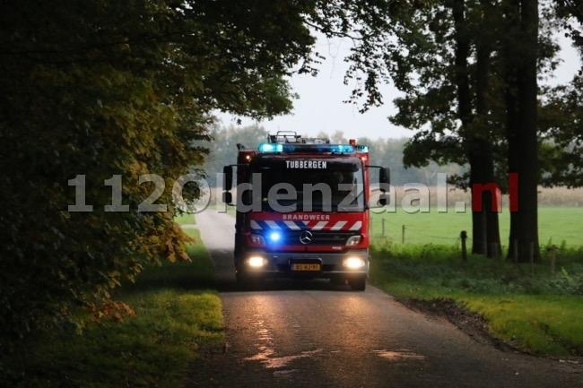 Foto 2: Koe komt in put terecht in Beuningen, brandweer start reddingsoperatie