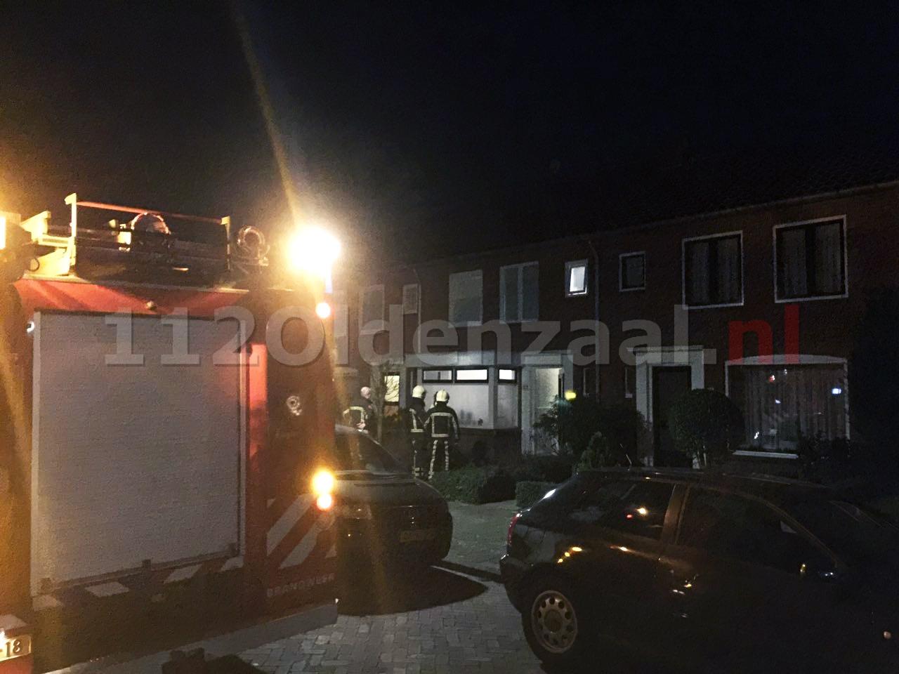 Brandweer rukt uit voor nacontrole de Ruyterstraat Oldenzaal