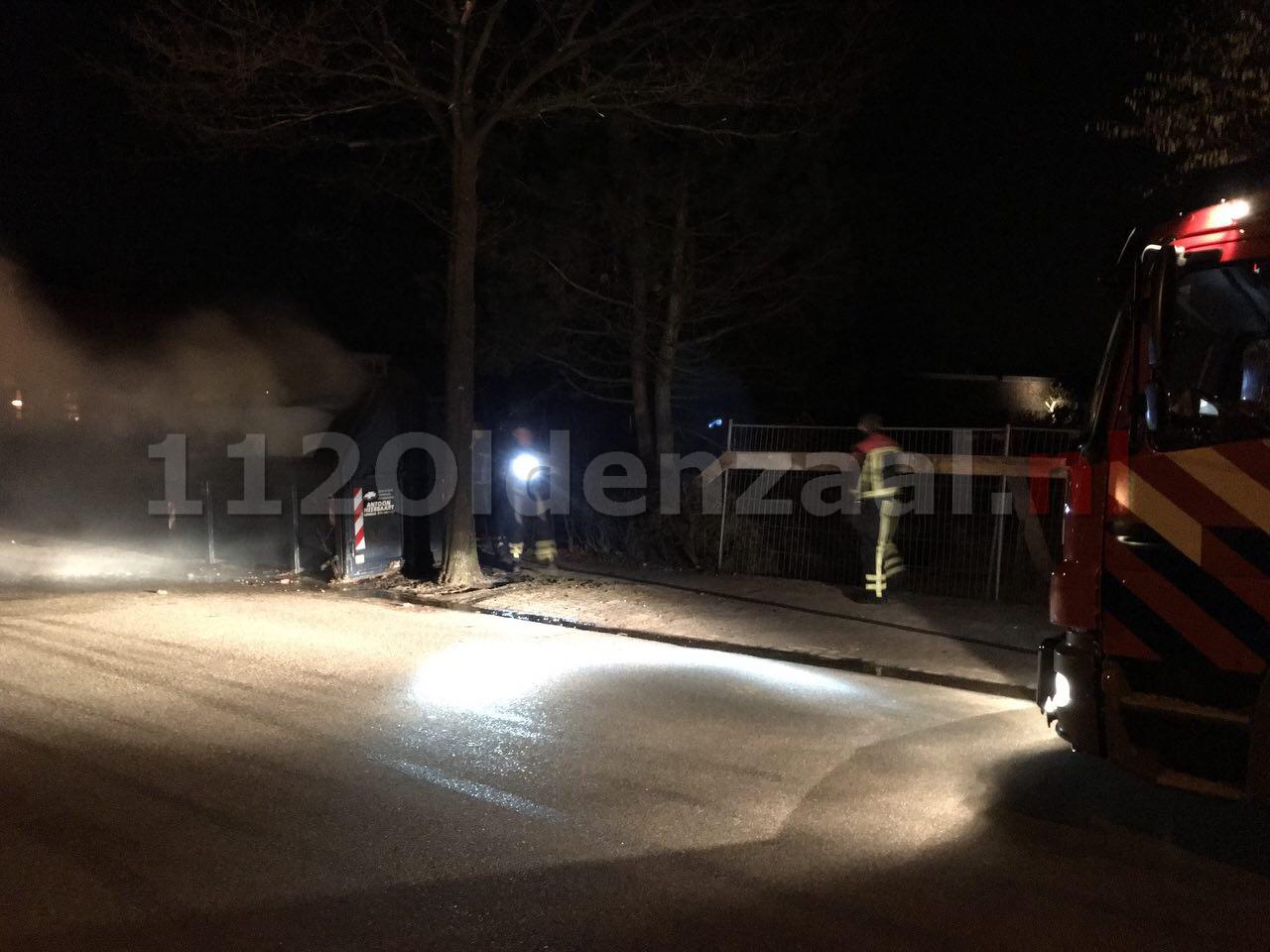 Foto 2: Brandweer rukt uit voor containerbrand Bentheimerstraat Oldenzaal