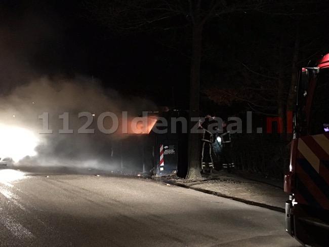 Foto: Brandweer rukt uit voor containerbrand Bentheimerstraat Oldenzaal
