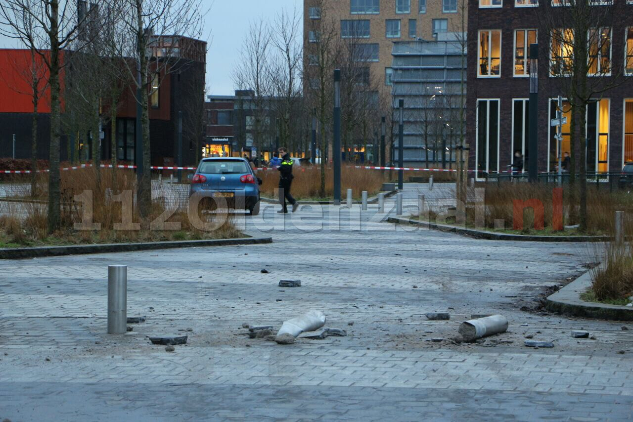 (VIDEO) Gestolen vluchtauto gebruikt bij overval in Enschede, twee mannen aangehouden
