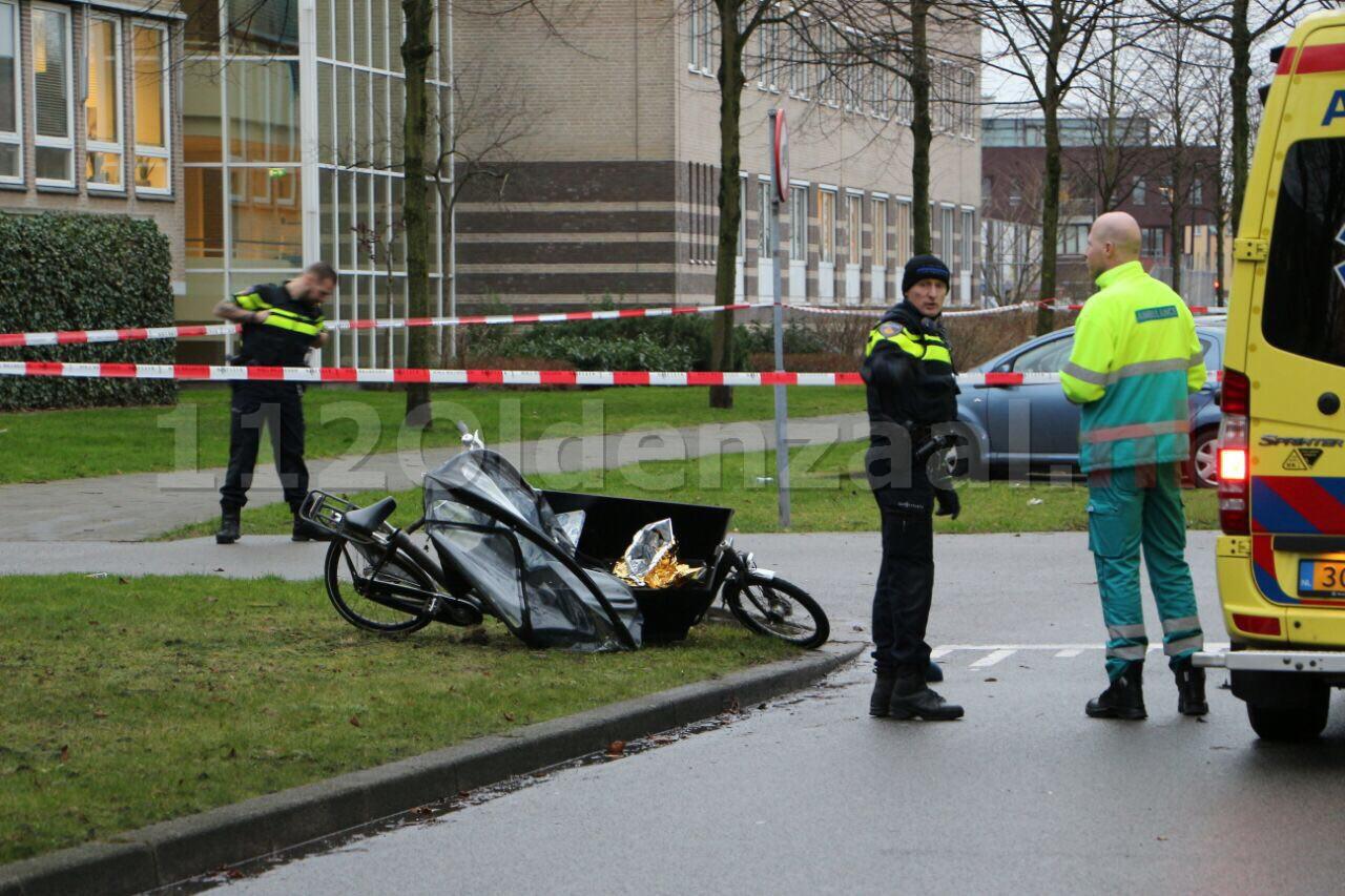 foto 2: Overvaller vlucht voor politie en rijdt fietser aan in Enschede