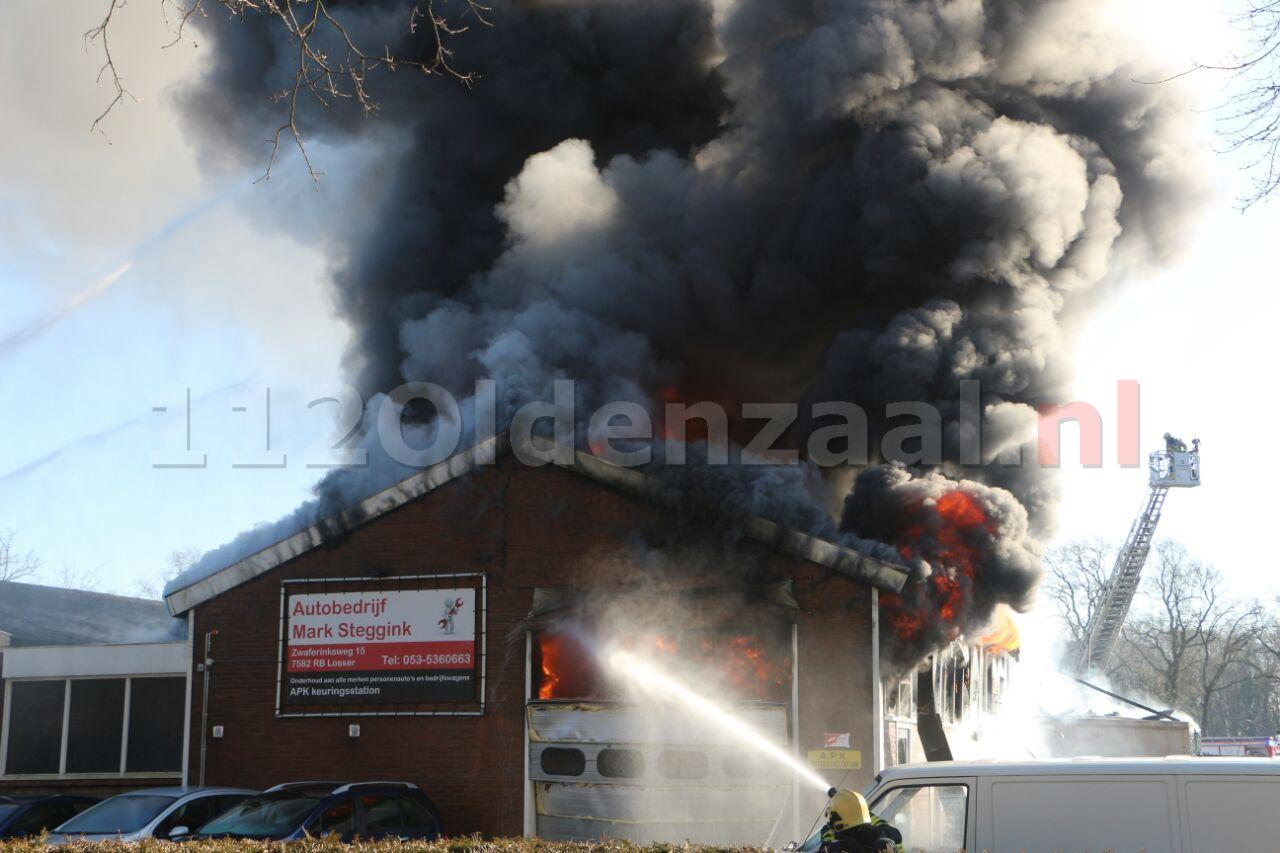 Persbericht Brandweer Twente: Drone Argus ingezet bij zeer grote brand Losser