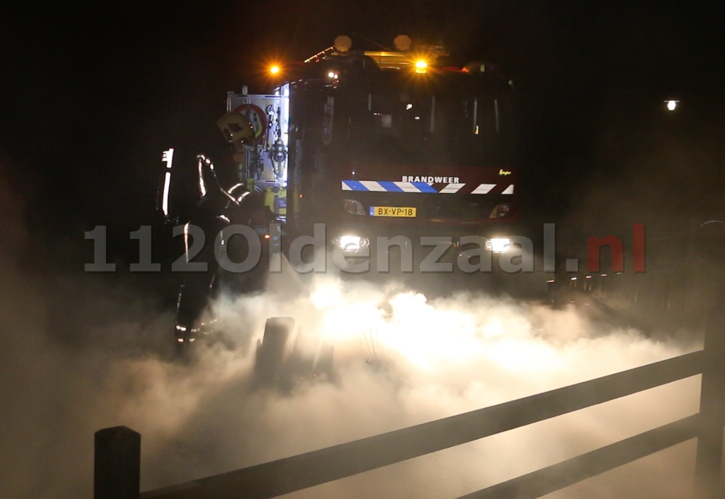 Foto: Brand bij Buitenhuys Het Hulsbeek Oldenzaal, mogelijk sprake van brandstichting