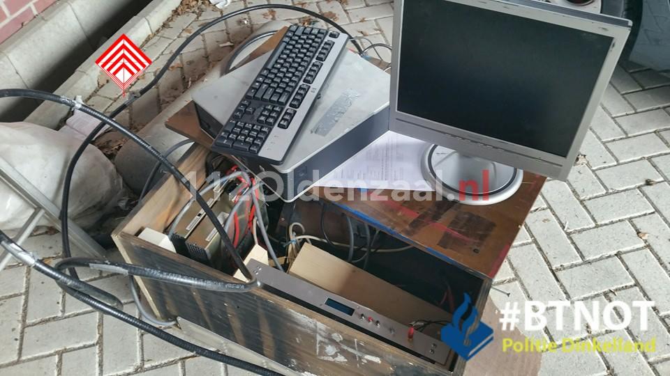 Foto: Diefstal stroom voor illegale zender in Weerselo