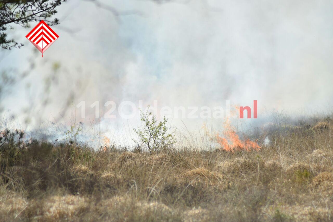 foto: Grote brand in heidegebied bij Beckum, natuurgebied ontruimd