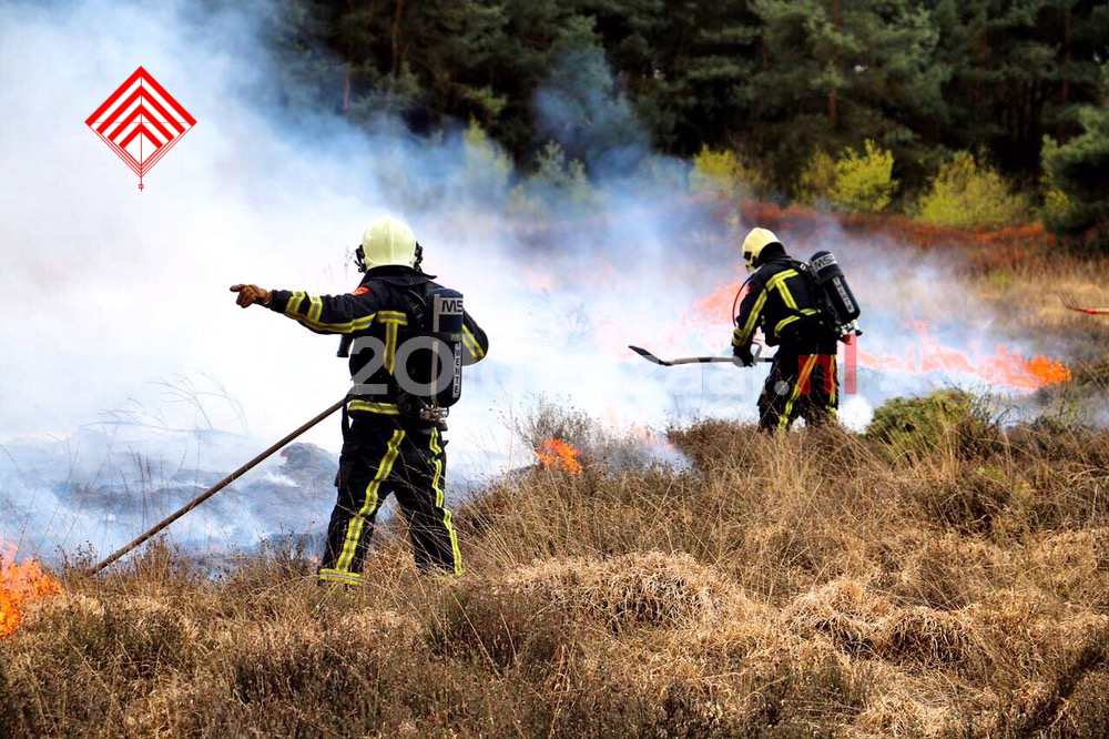 Code oranje; verhoogd risico op natuurbrand