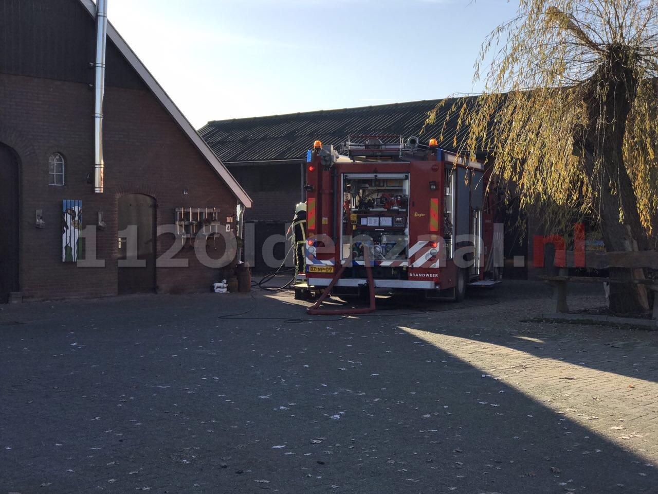 Foto: Rookschade bij brand in woning Wolbertdijk Weerselo