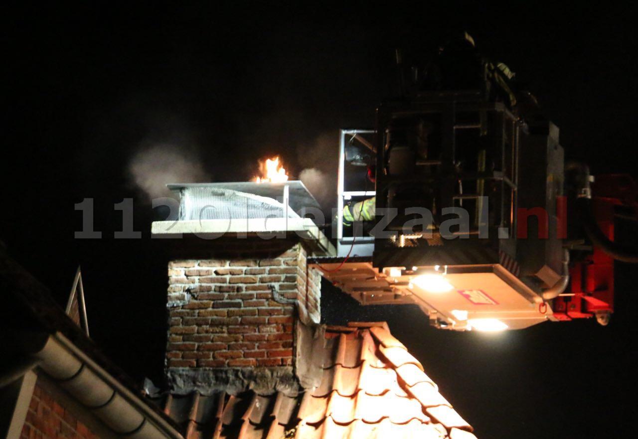 Foto 2: Flinke schoorsteenbrand in Ootmarsum