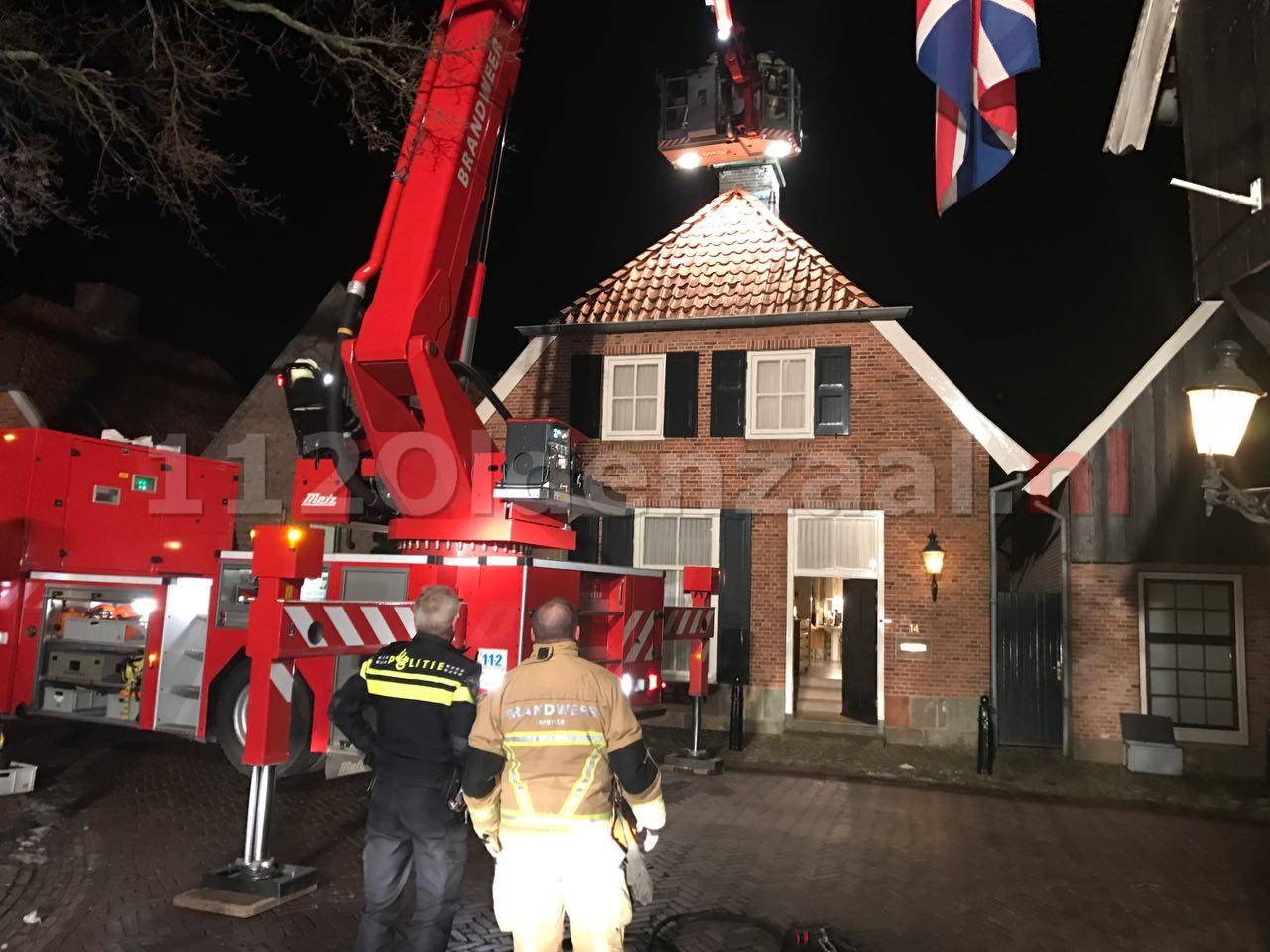 VIDEO: Flinke schoorsteenbrand in Ootmarsum