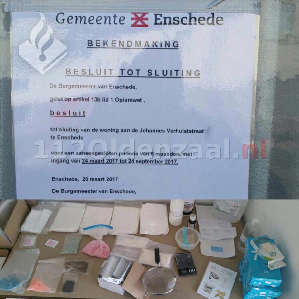Burgemeester Enschede sluit woning na vondst 5 kilo amfetamine