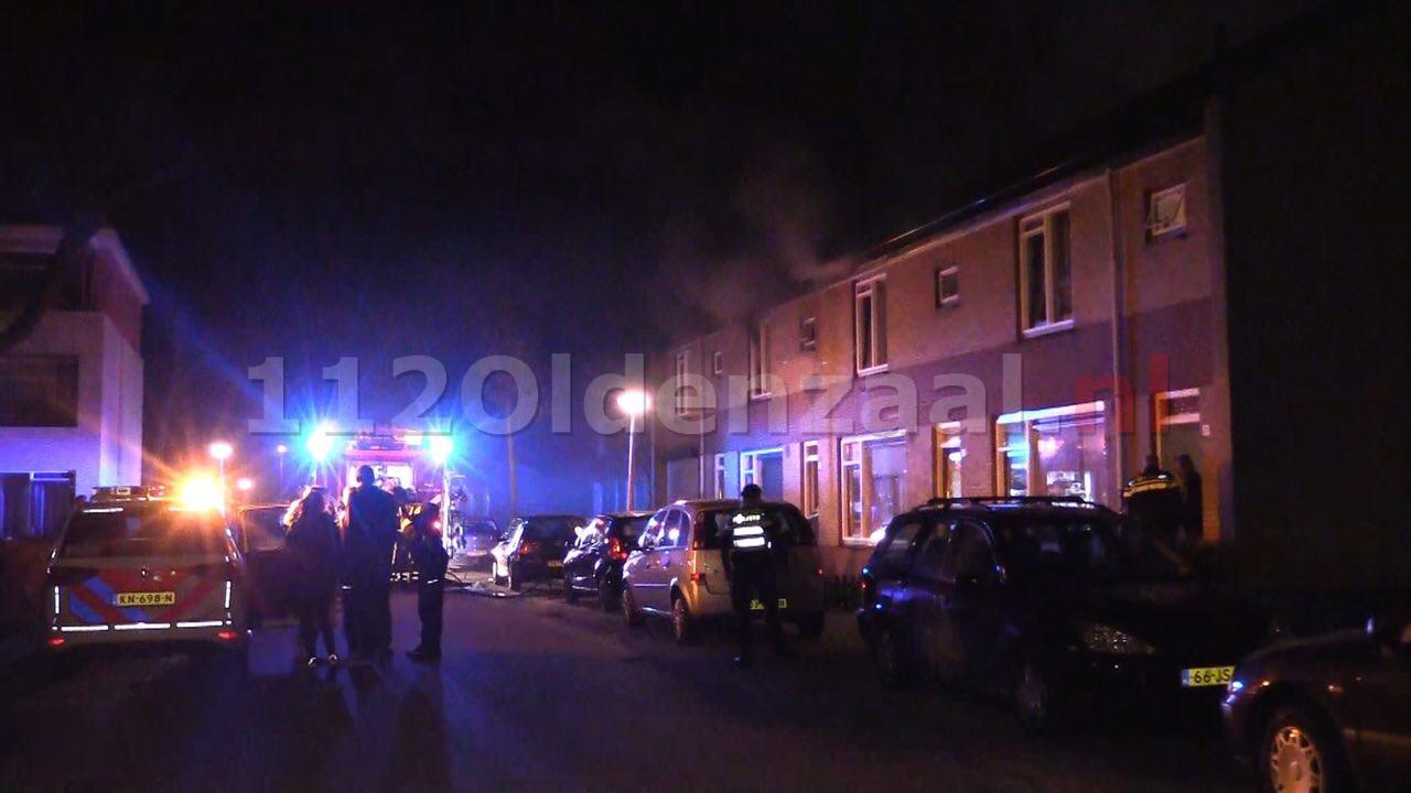 Foto: Forse schade bij woningbrand in Enschede