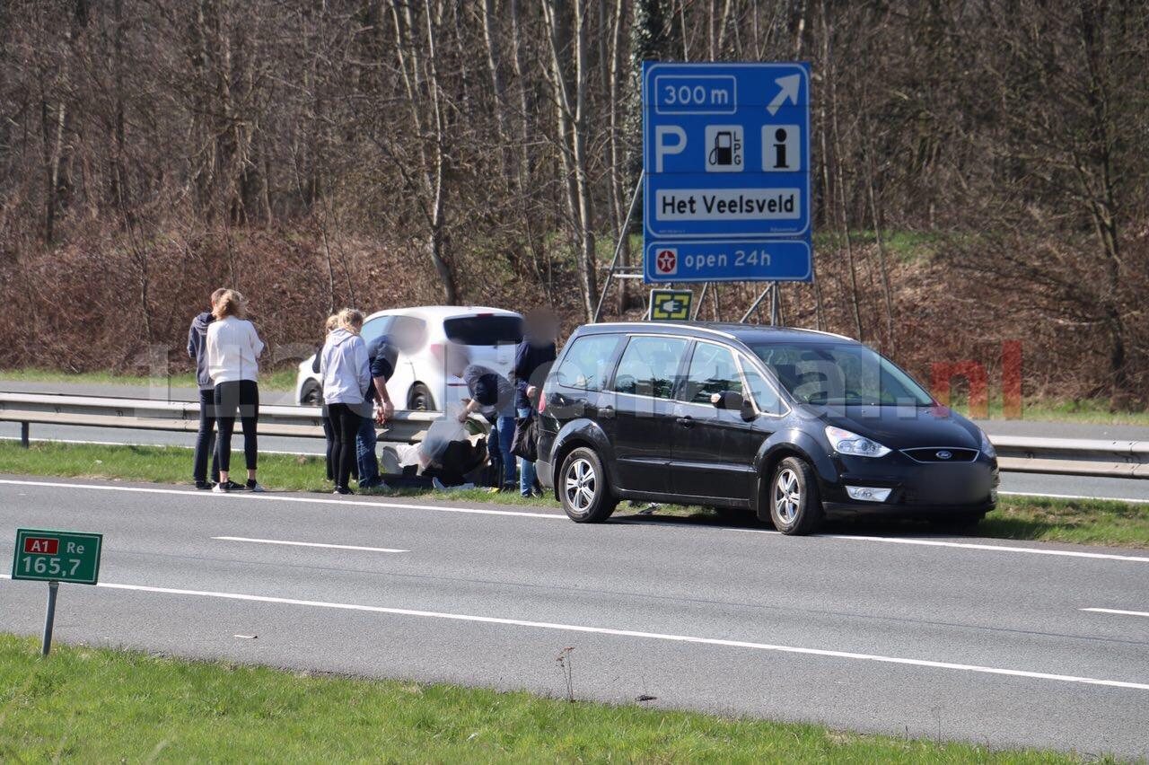 File op A1 richting Oldenzaal door meerdere aanrijdingen