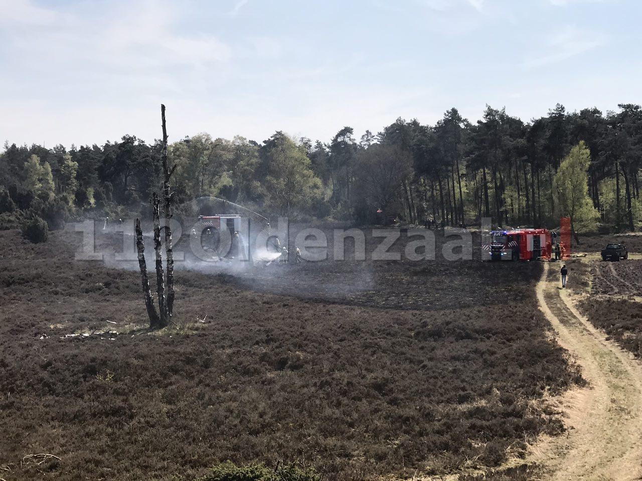 foto 2: Grote brand in natuurgebied bij Beuningen onder controle