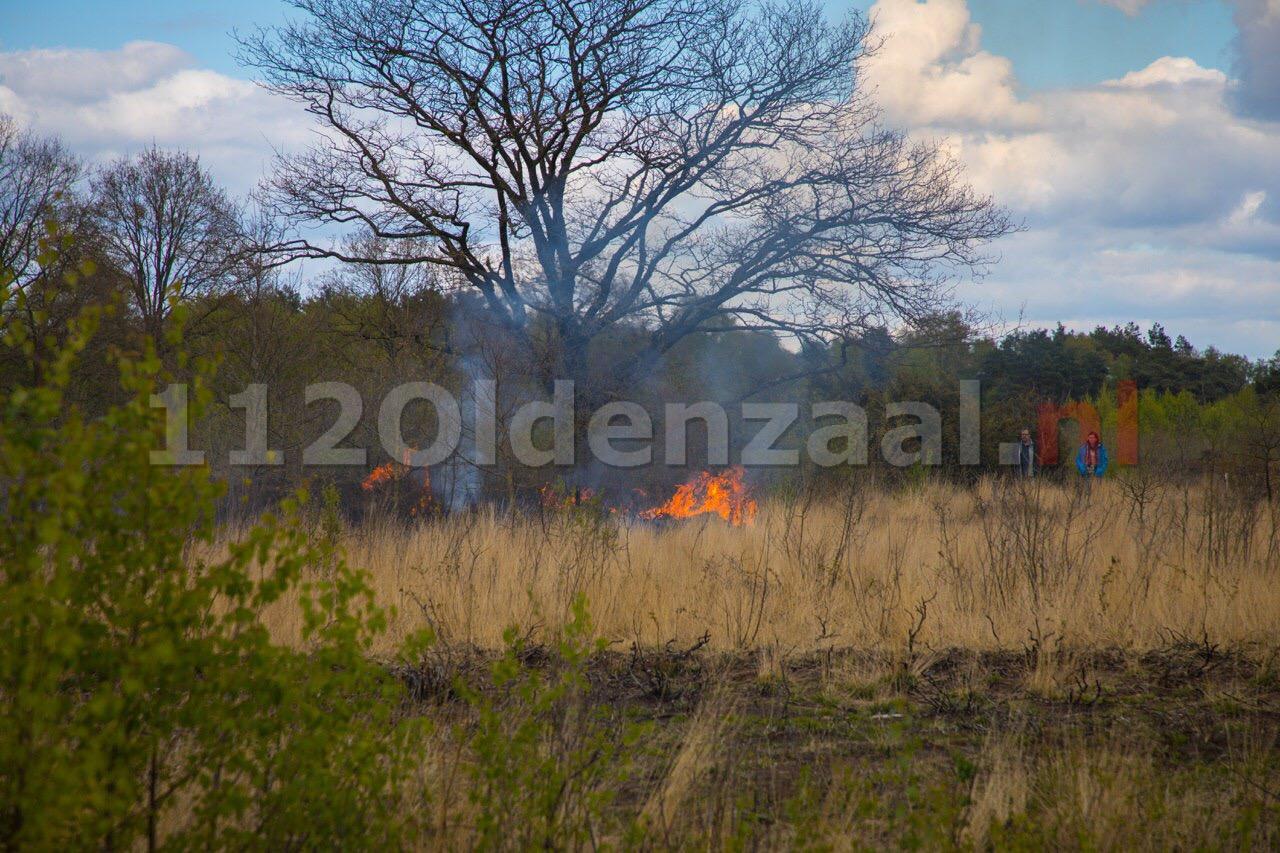 Flinke natuurbrand Bergvennen bij Lattro