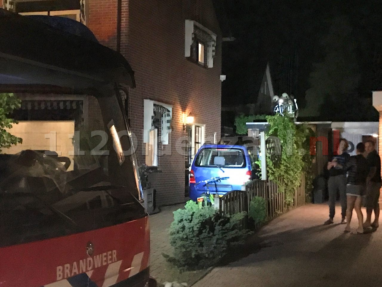 Brand in tuin achter woning in Oldenzaal