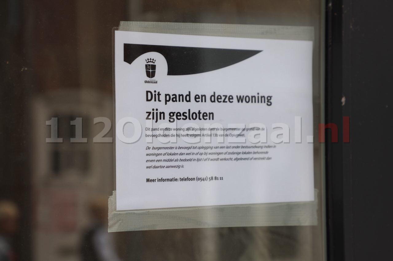 Foto: Burgermeester sluit drugspand Deurningerstraat Oldenzaal