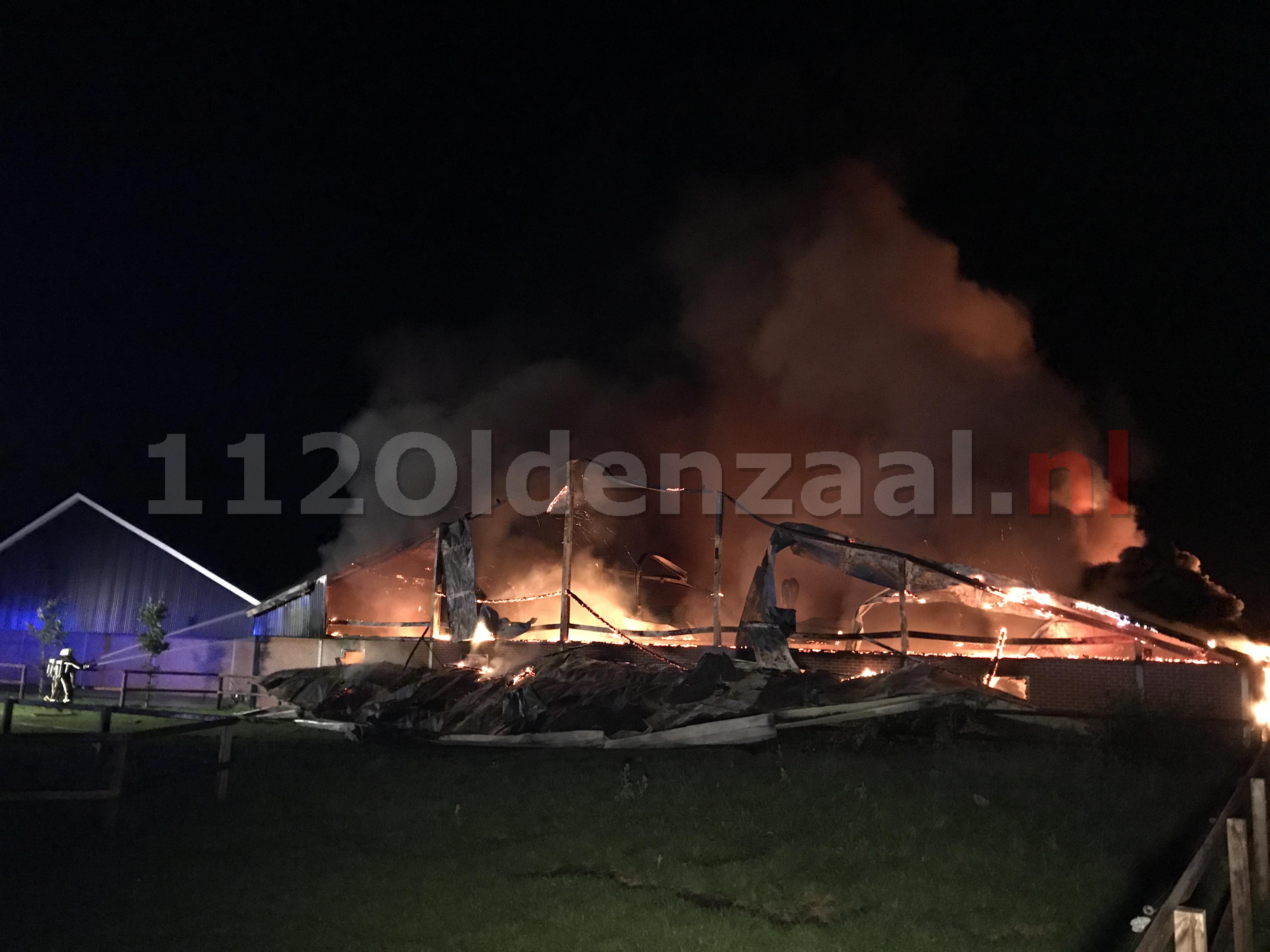 VIDEO: Biggen en varkens omgekomen bij zeer grote brand in twee varkensstallen in Agelo