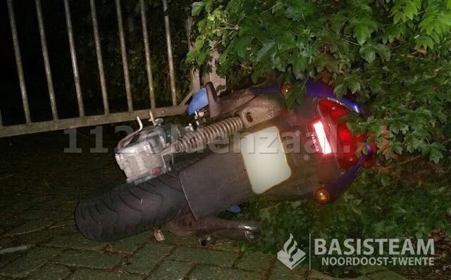 Scooterrijder vlucht al spookrijdend voor politie in Oldenzaal