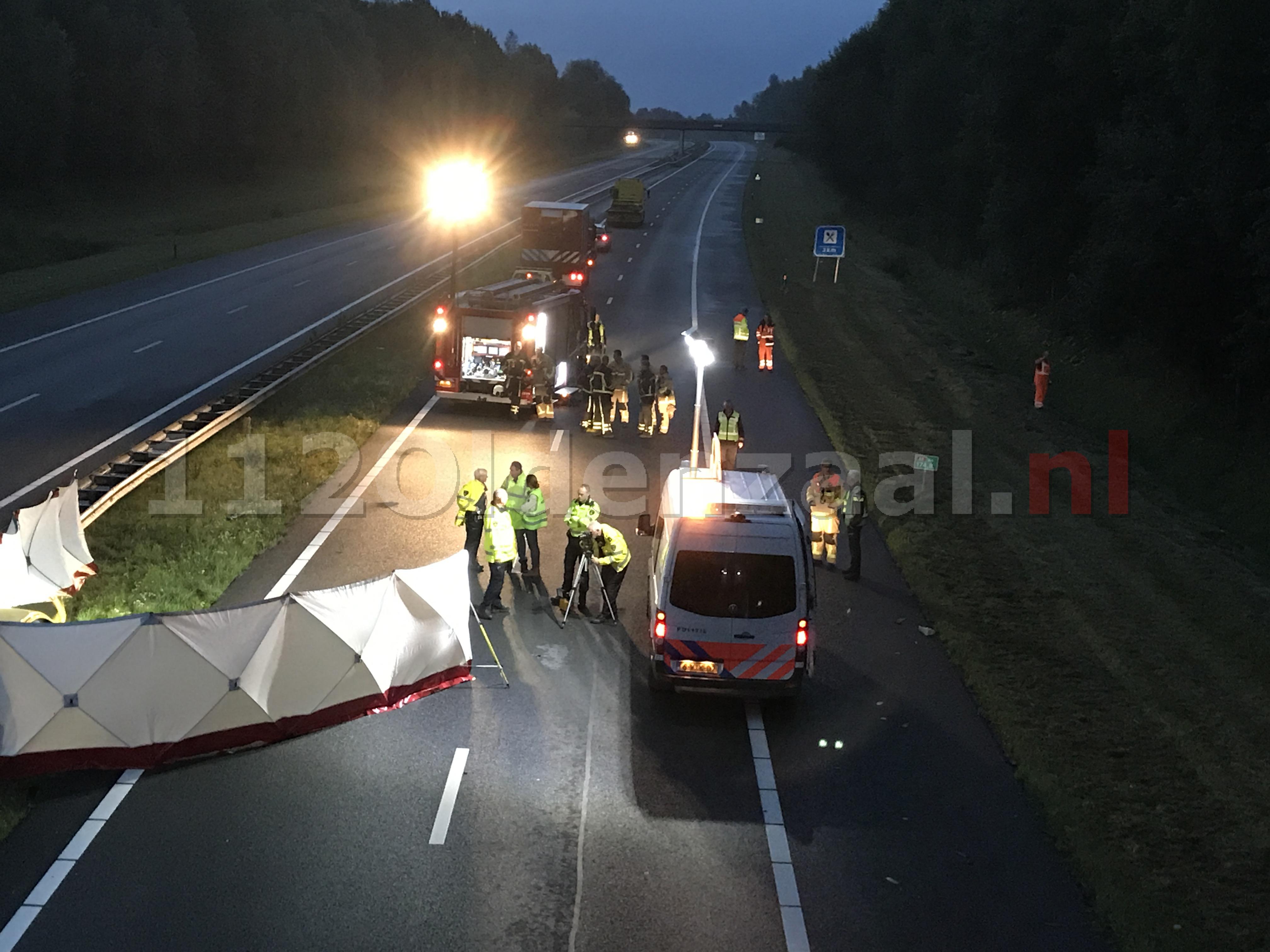 UPDATE: Poolse man overleden na aanrijding op A1; 60-jarige man uit Letland aanhouden