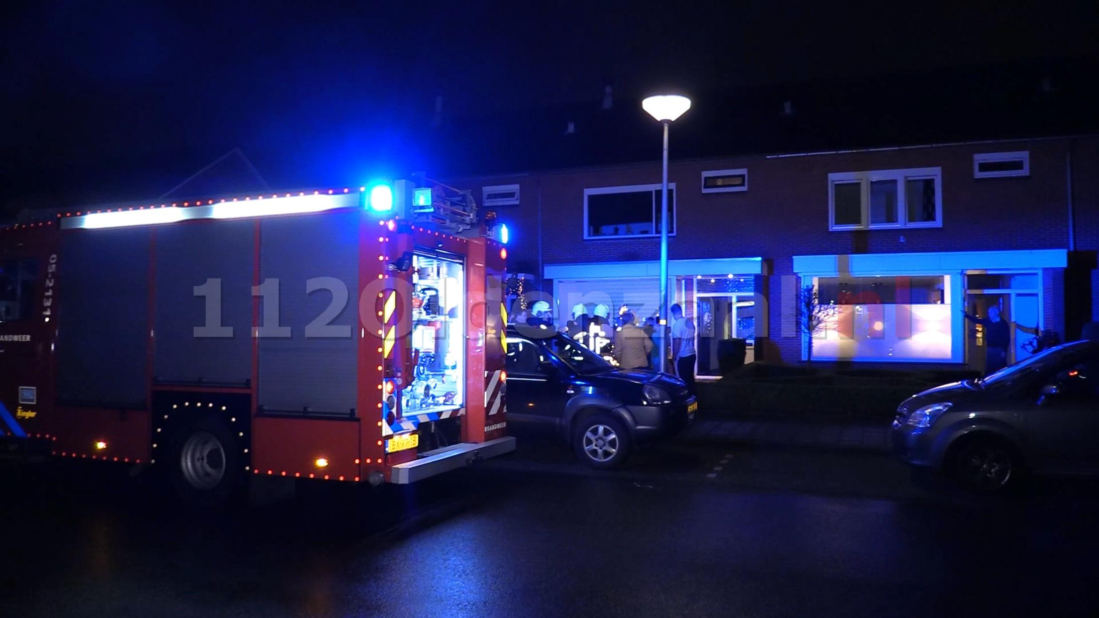 UPDATE (foto's): Brandweer rukt uit voor melding woningbrand Oldenzaal; woonkamer vol rook