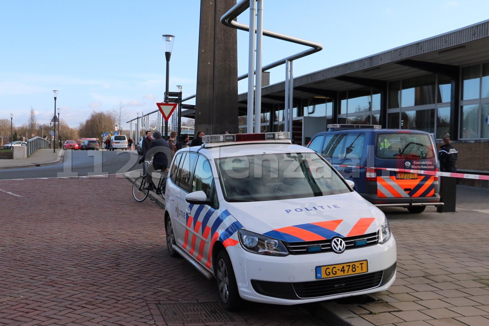 UPDATE: Gevonden brief leidt tot grote politieactie bij station in Oldenzaal