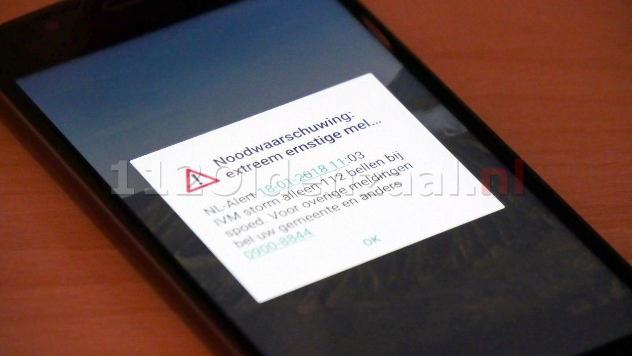 NL Alert uitgegeven in heel Nederland; Bel alleen in noodgevallen 112