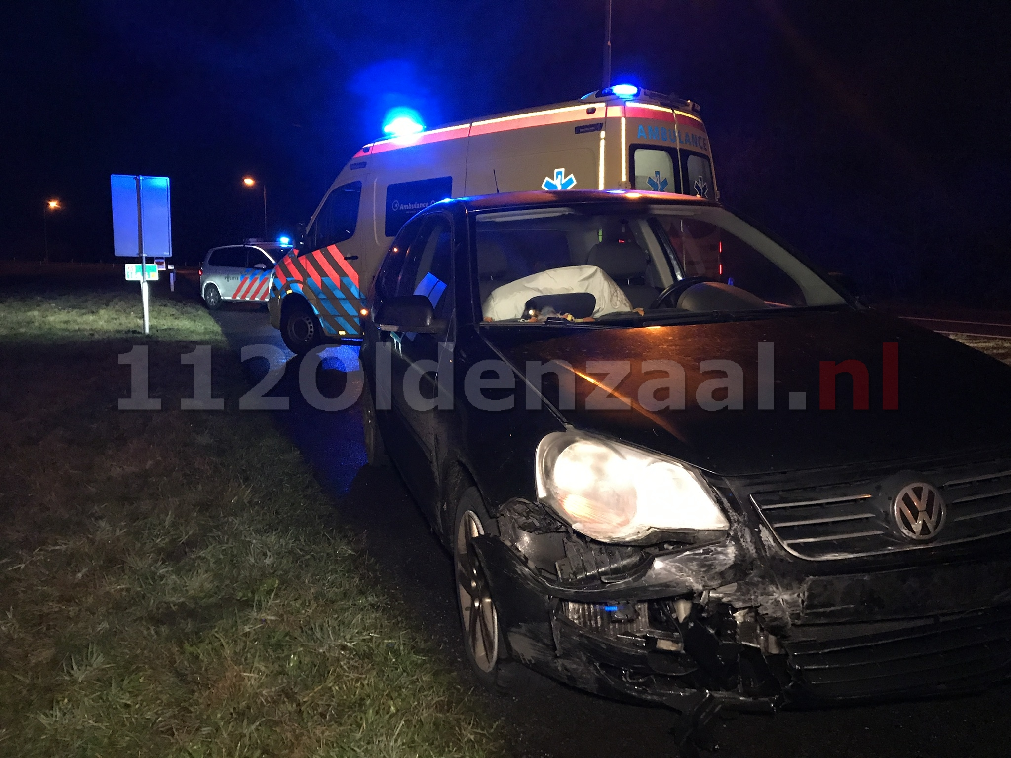 Aanrijding tussen twee voertuigen op de A1 bij Oldenzaal