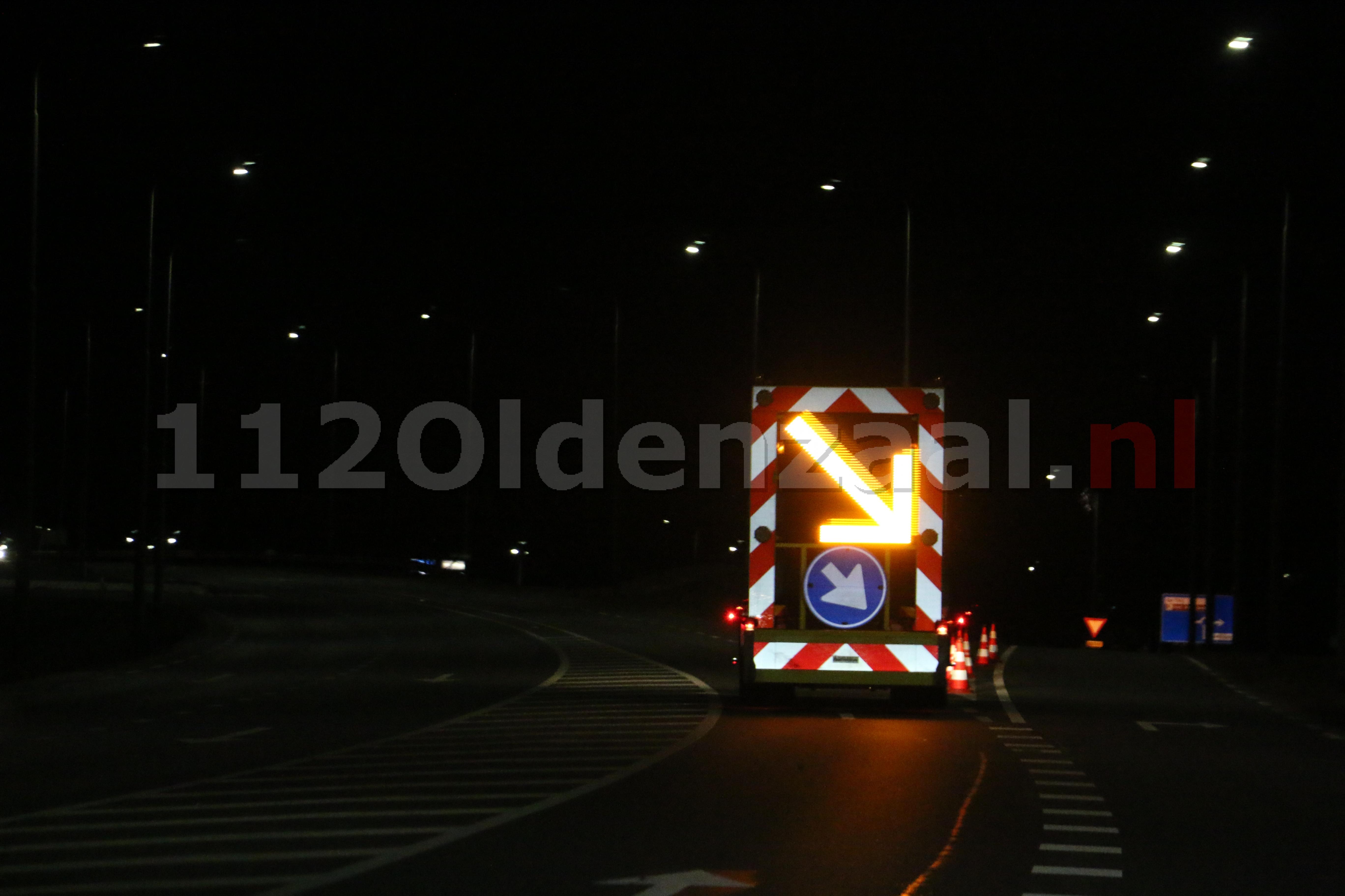 UPDATE: Gedeelte Provinciale Rondweg Oldenzaal afgesloten; weg bezaaid met glas