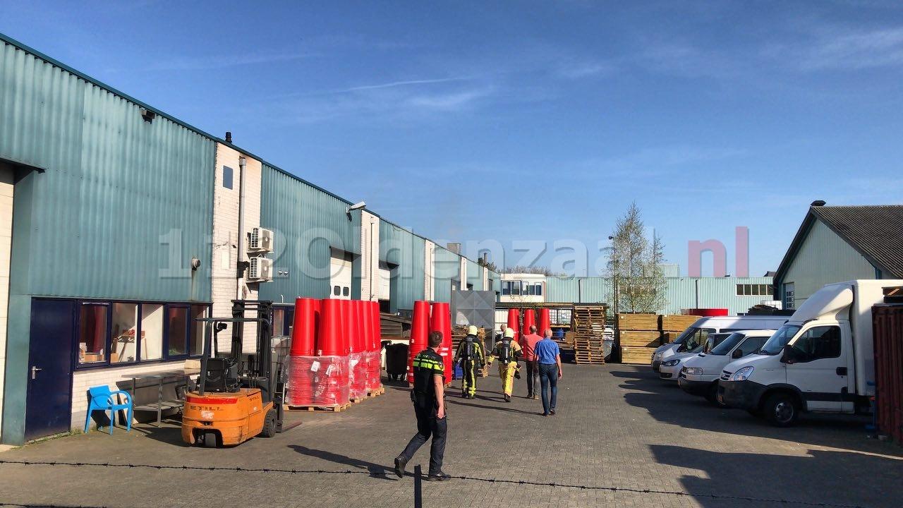 Video: Brand bij bedrijf in Oldenzaal