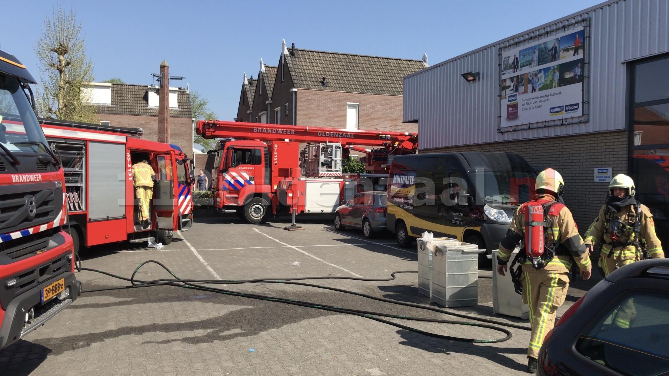 UPDATE: Brand bij bouwmarkt Multimate Oldenzaal snel onder controle