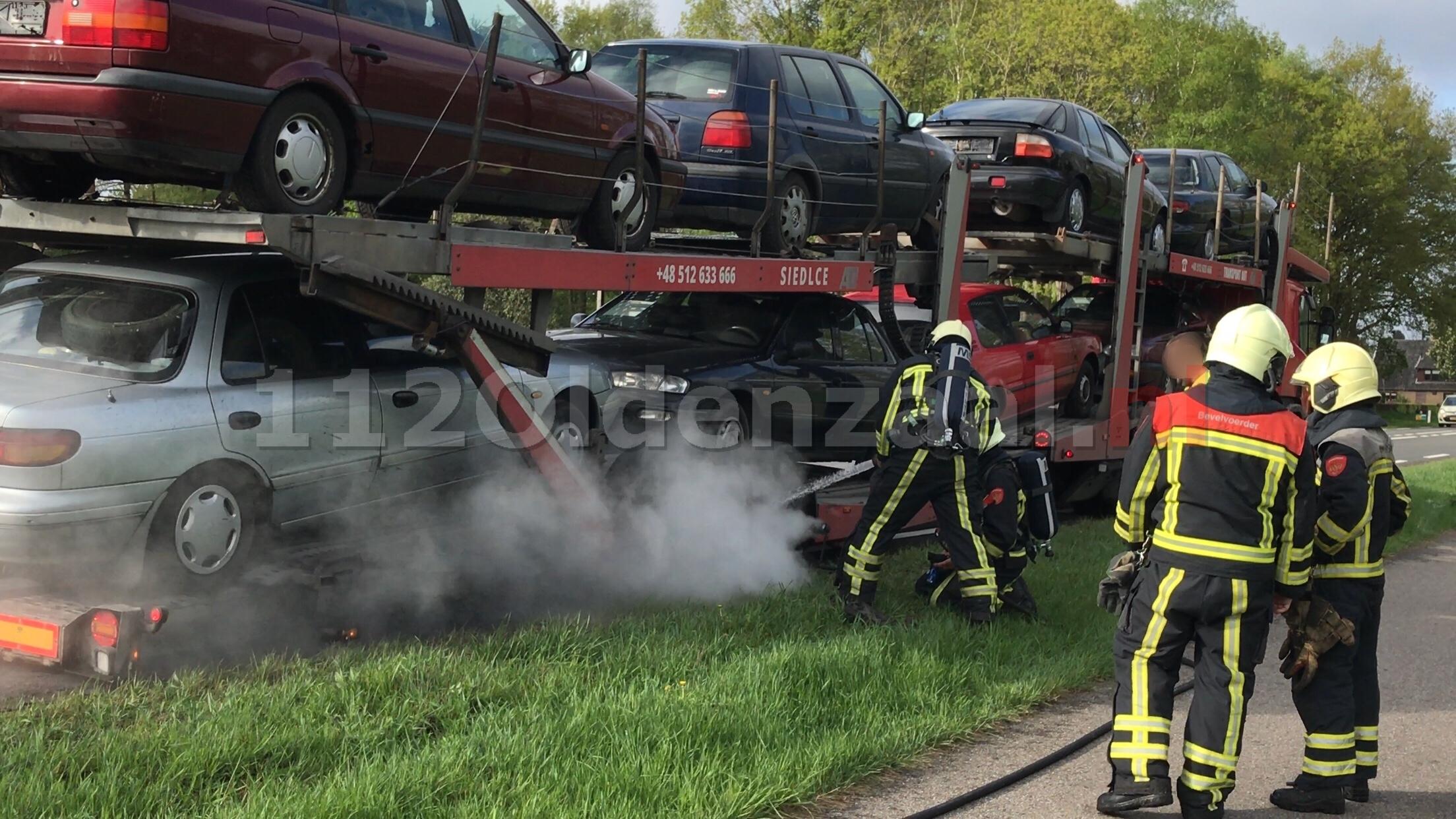 Brandweer Oldenzaal rukt uit voor melding vrachtwagenbrand