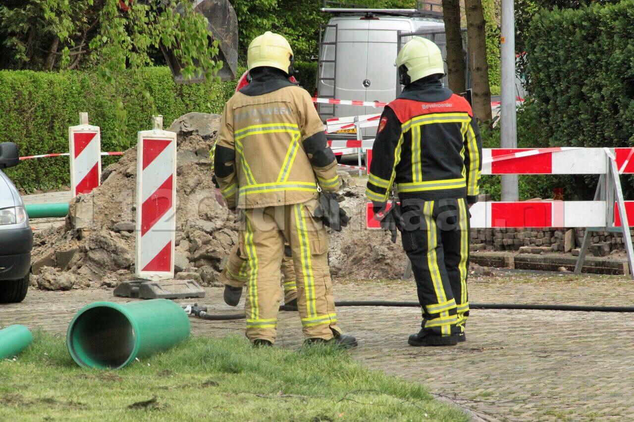 Gasleiding geraakt bij werkzaamheden in Oldenzaal