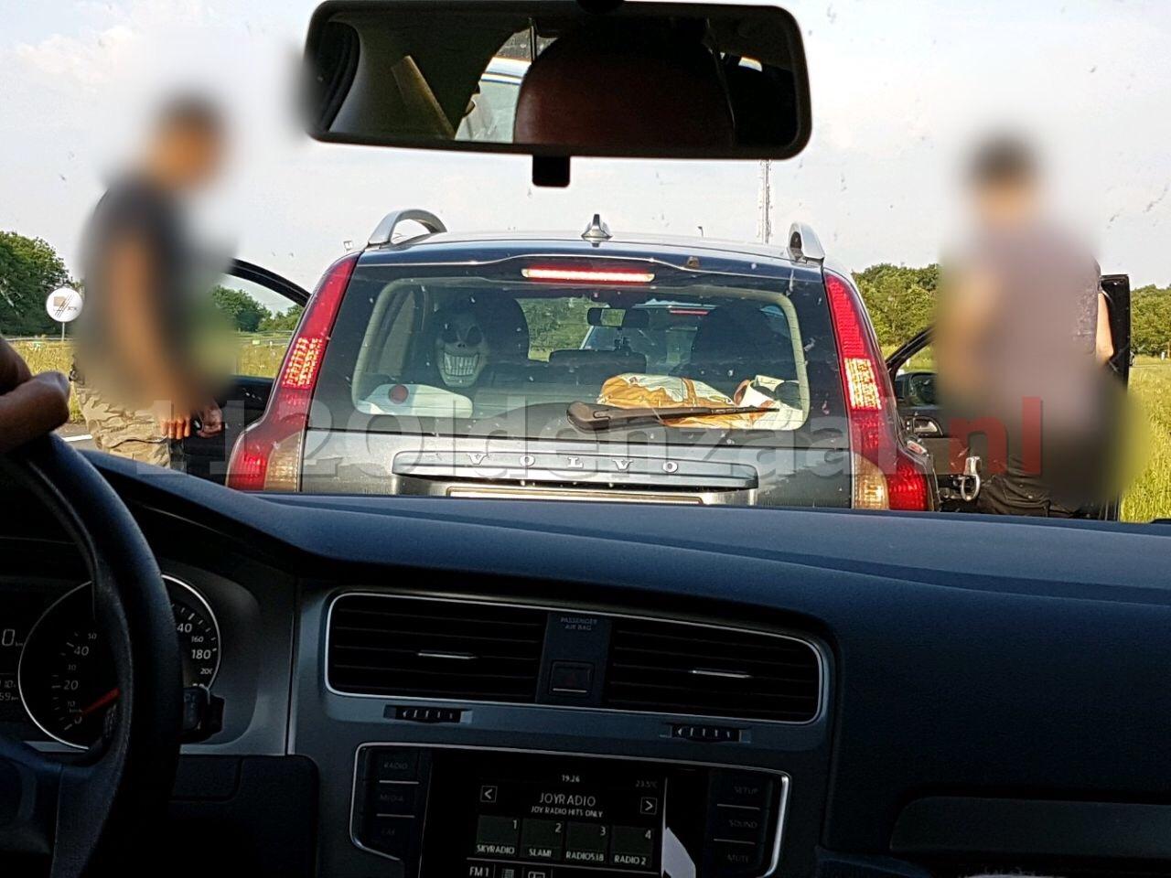Grote controle op mobiel banditisme op de A1 bij Deurningen