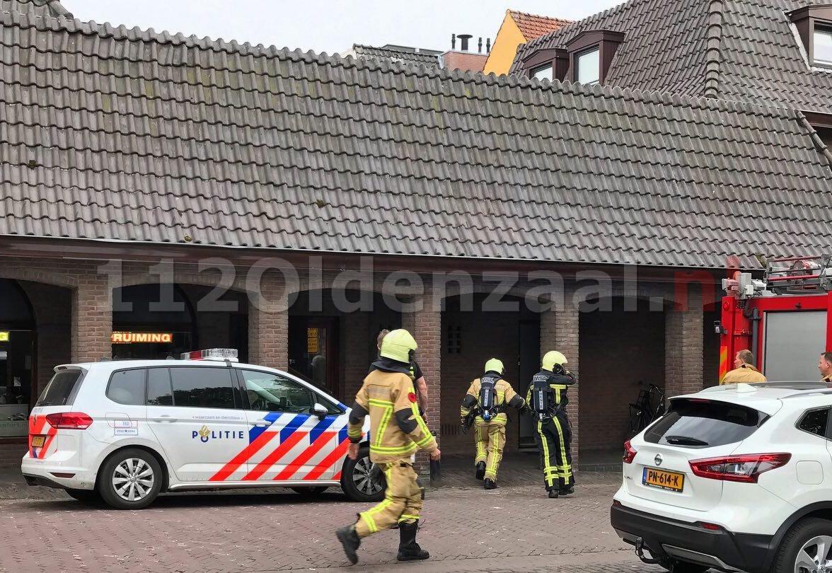 Brand op dakterras Oostwal Oldenzaal