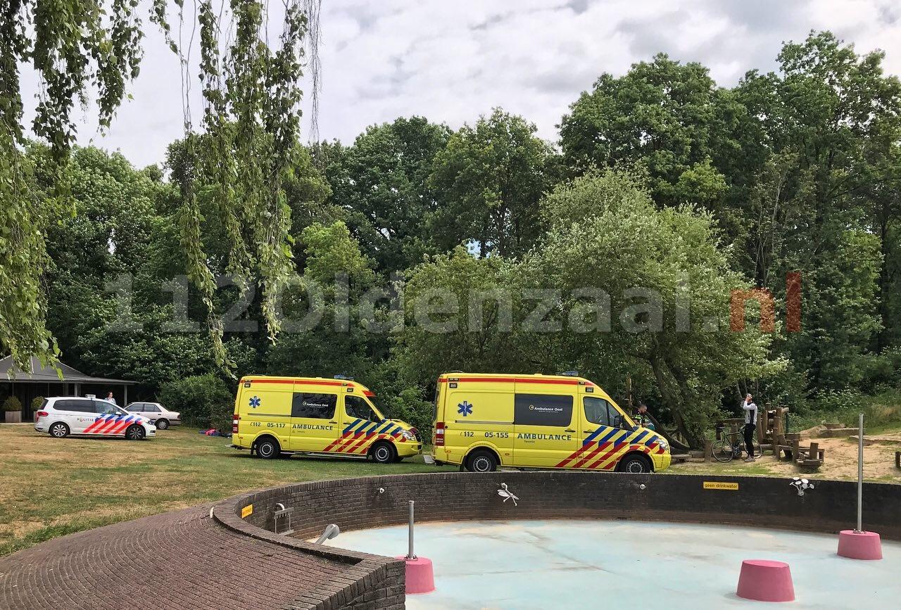 Hulpdiensten rukken uit naar Hulsbeek Oldenzaal; kind uit boom gevallen