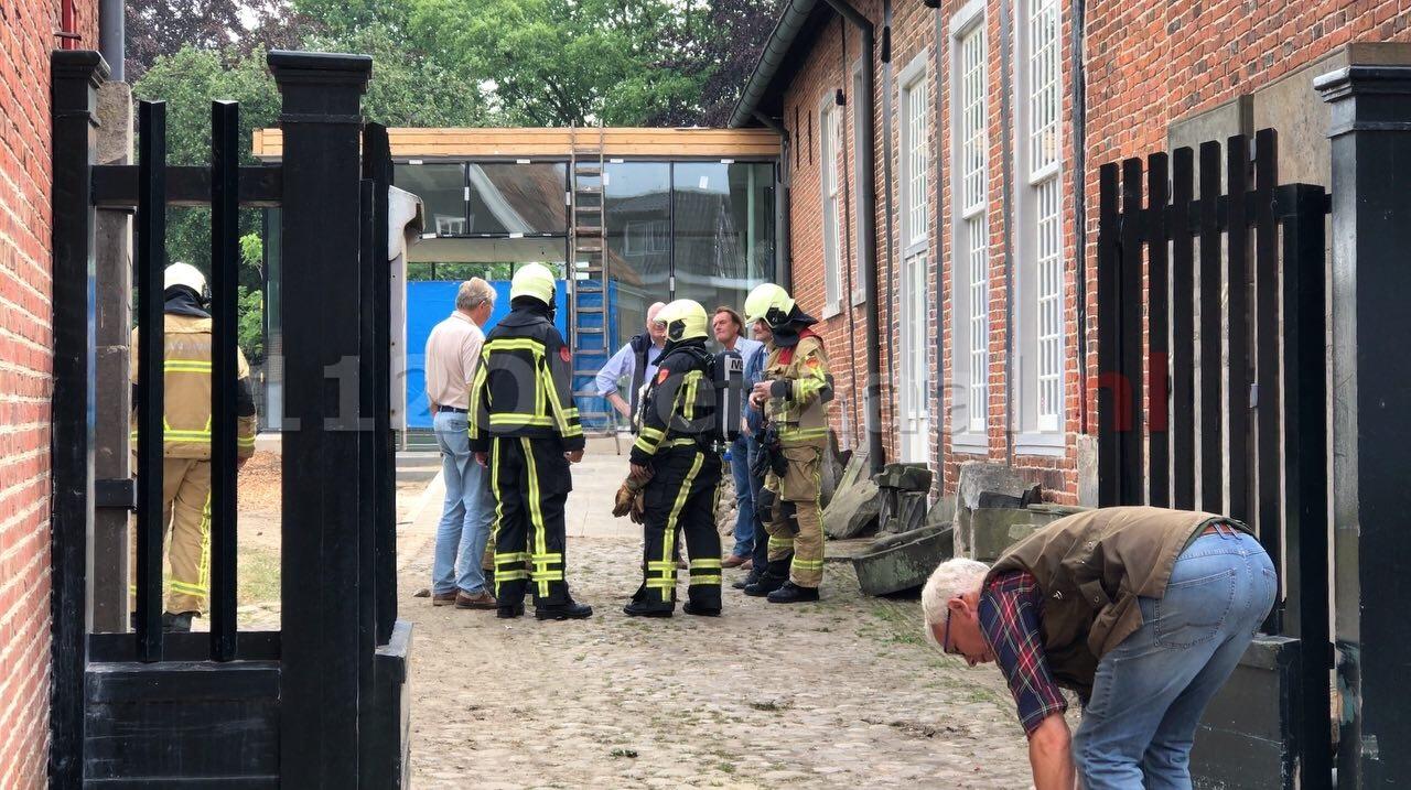 Brandweer rukt uit voor gaslekkage bij Museum het Palthe-Huis in Oldenzaal