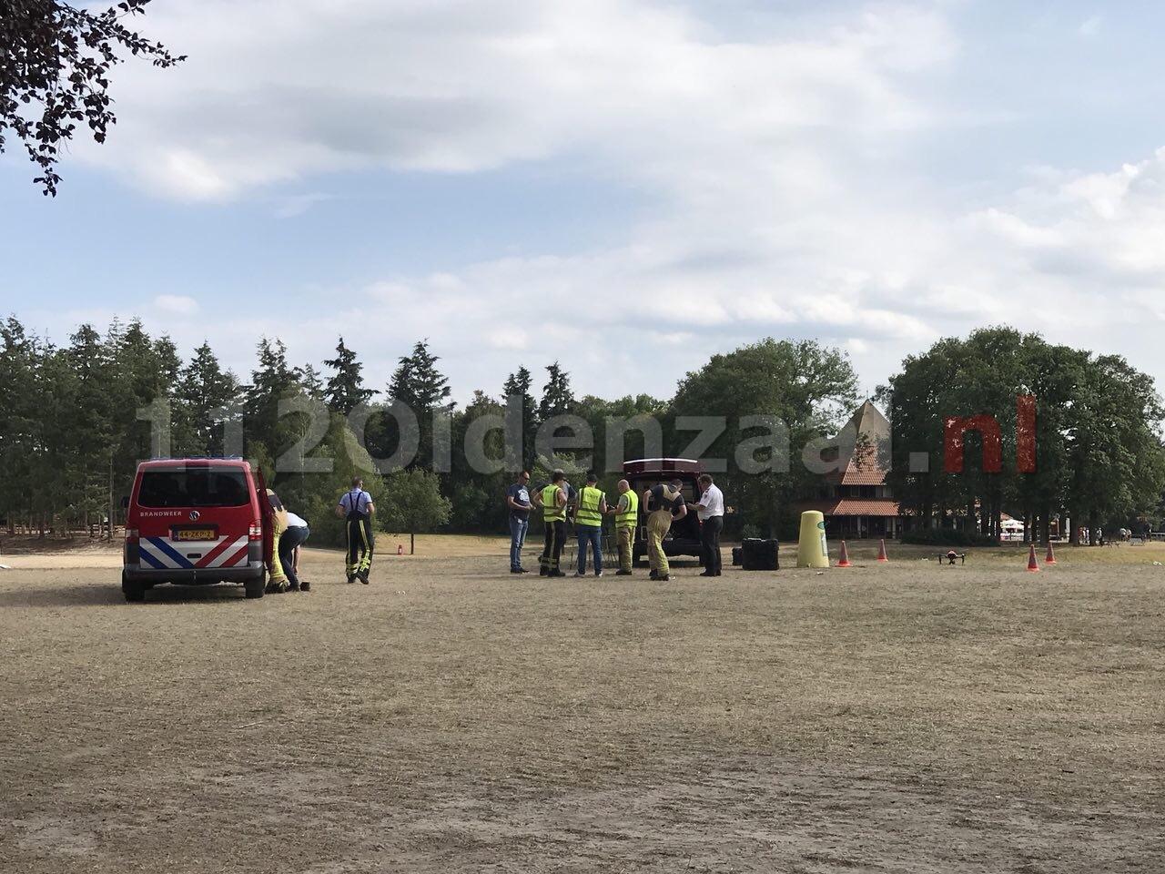 Zoekactie naar mogelijke drenkeling in Oldenzaal, sonarboot en drone ingezet; Het Hulsbeek ontruimd