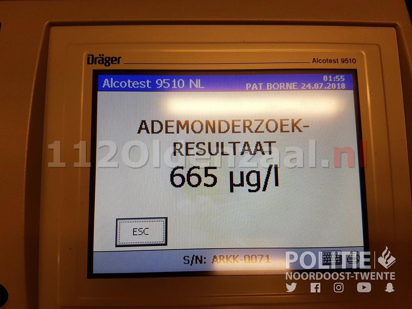 46-jarige Oldenzaler raakt rijbewijs kwijt