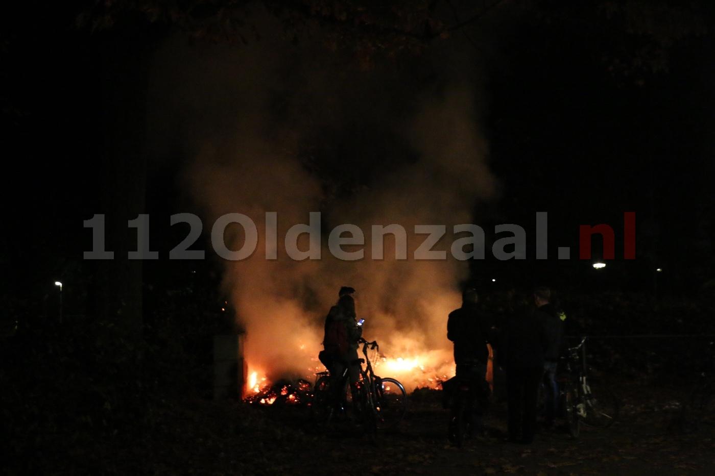 Brandweer rukt uit voor brandend bladafval in Oldenzaal
