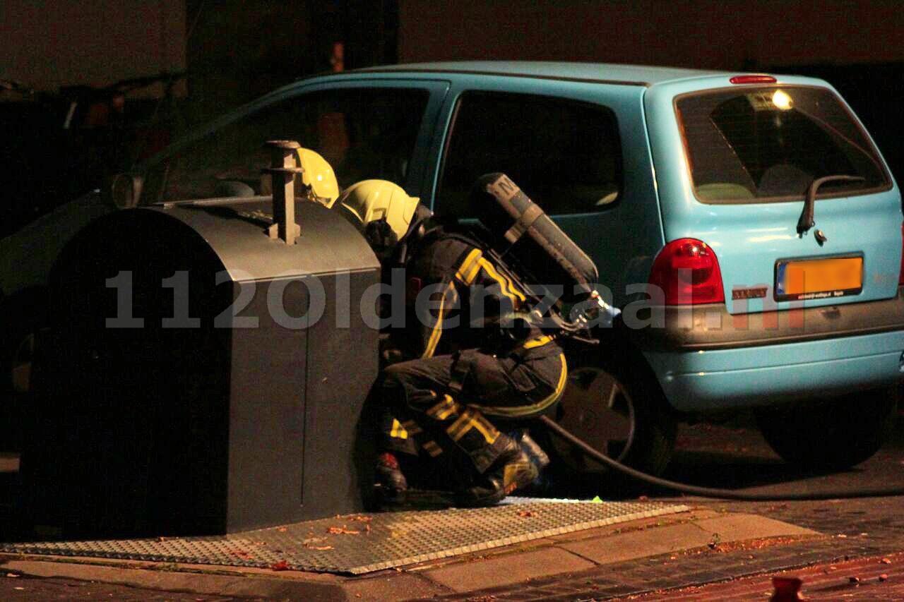 Brandweer rukt uit voor containerbrand in Oldenzaal