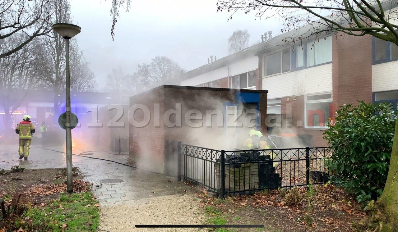 Foto 2: Schuurbrand Hunenveldlaan Oldenzaal
