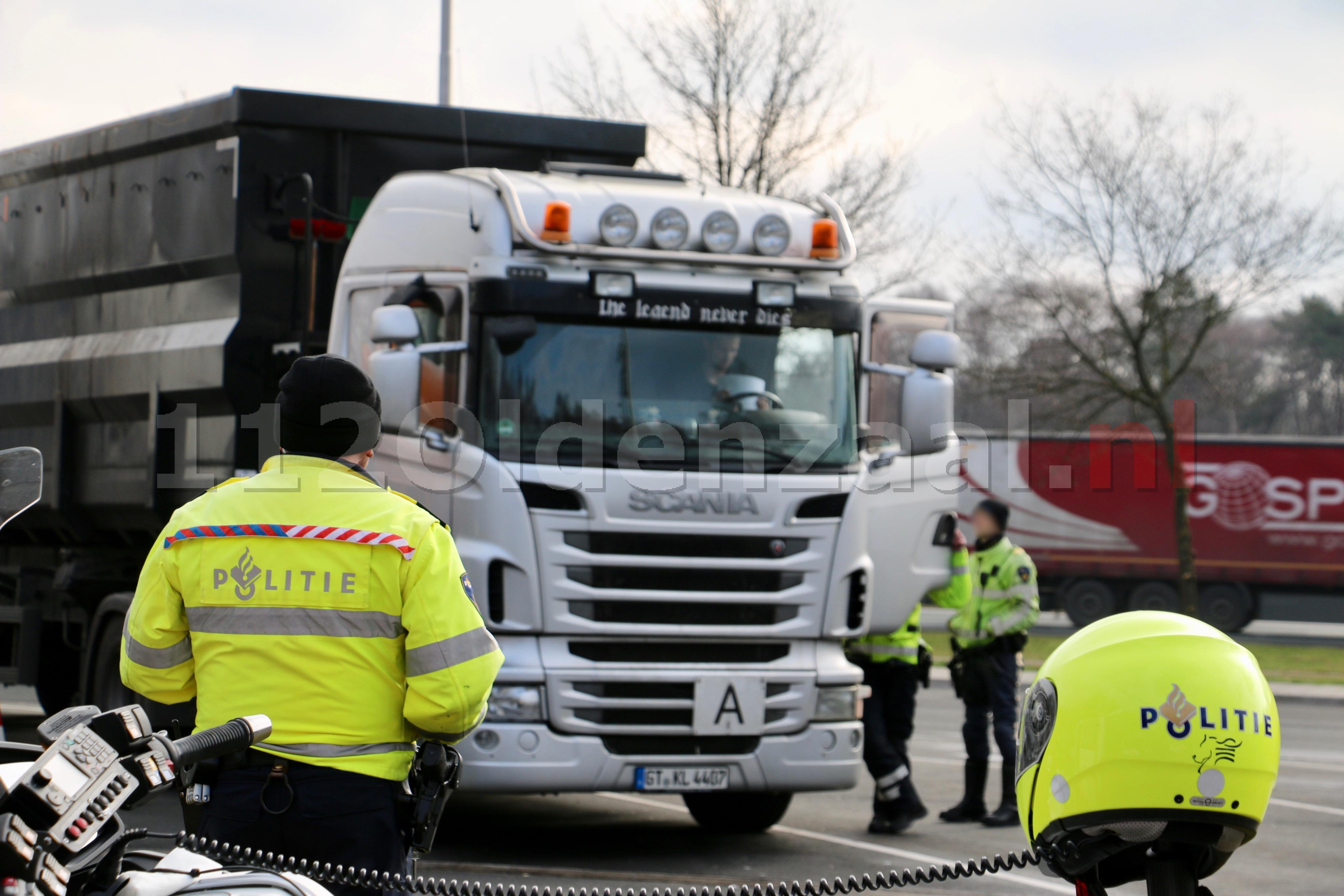 UPDATE: Bekeuringen bij internationale transportcontrole op de A1 bij Oldenzaal