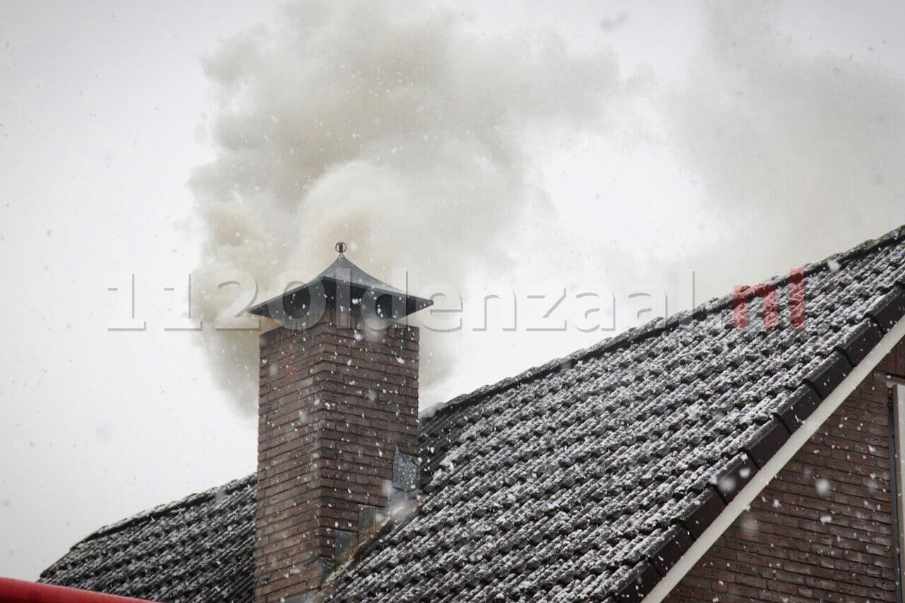 Flinke rookontwikkeling bij schoorsteenbrand in Oldenzaal